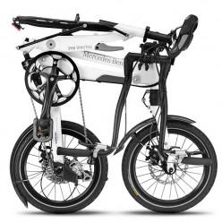 Вот так выглядит сложеный велосипед от Mercedes (скрутили в бараний рог)