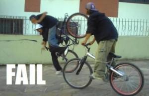 падение с велосипеда