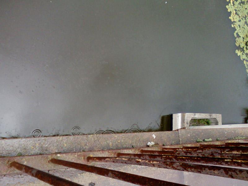вид с моста вниз