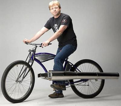 jet bike велосипед на реактивной тяге