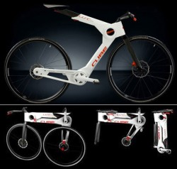 Велосипед от Gregor Dauth. Весь процесс складывания и раскладывания занимает секунды
