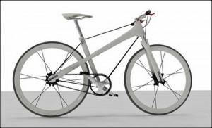 велосипед на ниточке – вид сбоку
