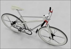 велосипед на ниточке – вид сверху