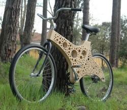 Деревяный Велосипед