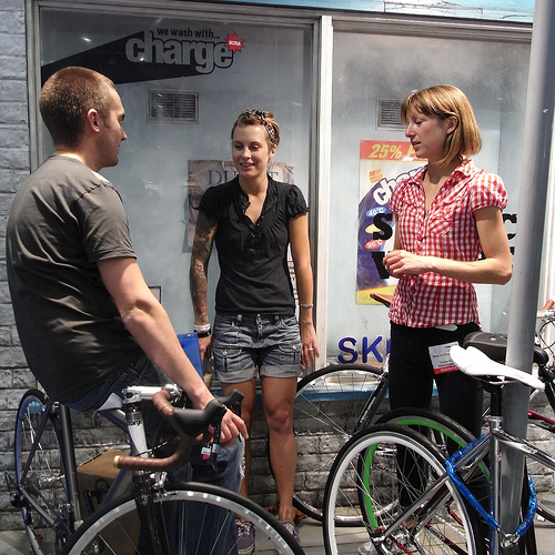 знакомства с девушкой на велосипеде