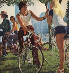 велосипедист и знакомство с девушкой