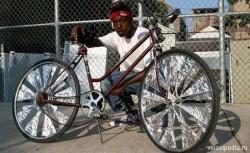 велосипед из фольги