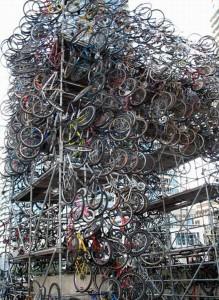 Гора из велосипедов
