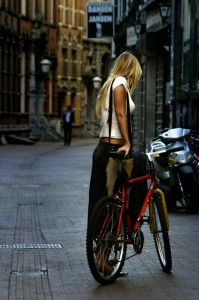 Girl_with_Bike_by_Blikje