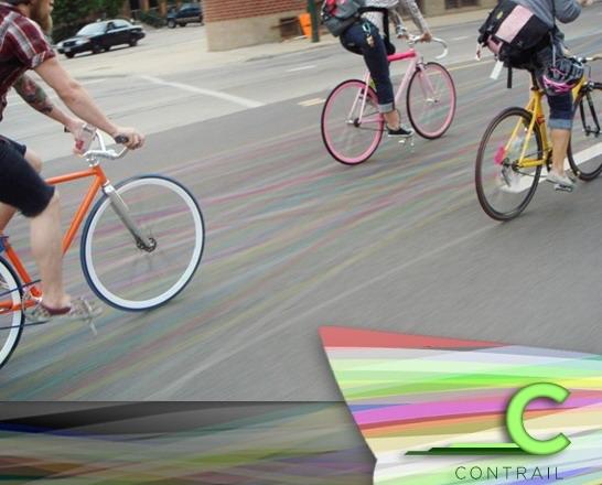 велосипед и следы