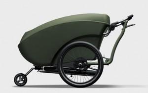 трехколесный велосипед с прицепом