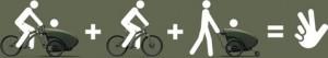 Три в одном, велосипед и коляска