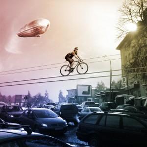 Велосипедные дорожки в небе