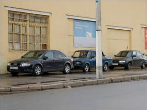 Парковка на тротуарах