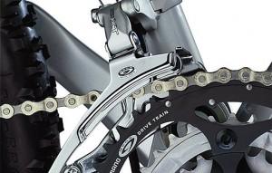 Велосипед от AUDI переключатель