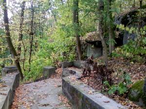 Соколец, лестницы в парке