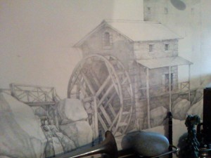 Рисунок на стене