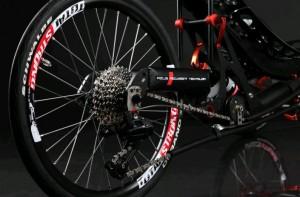 Лежащий велосипед лигерад AZUB folding trike concept
