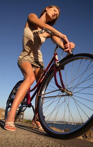 Копенгаген девушка на велосипеде