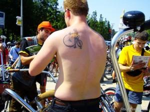велосипедная наколка Bikes