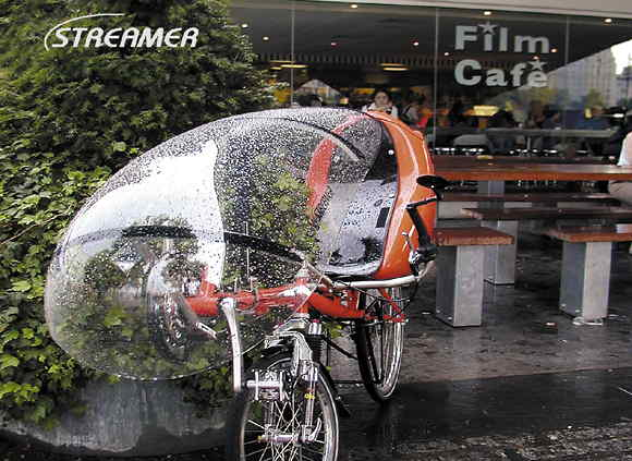 Защита велосипедиста от дождя