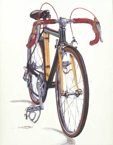 Рисованный велосипед