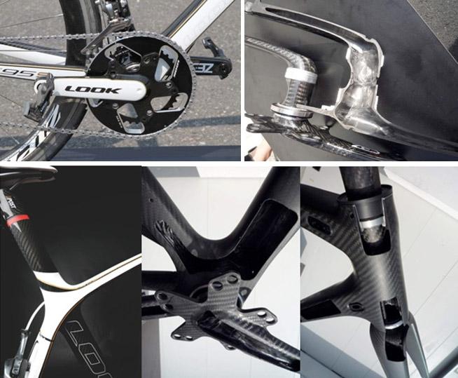 велосипед Look 695 в разрезе