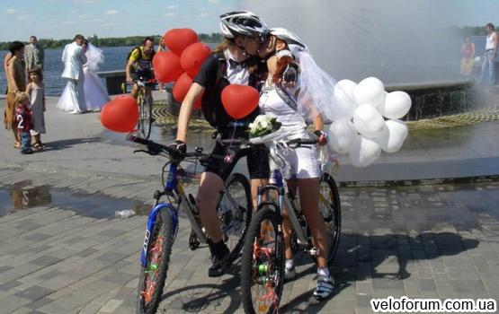 Велосипедная свадьба Украина