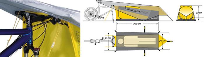 велосипедная палатка чертеж