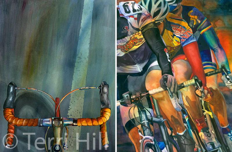 рисованные велосипеды