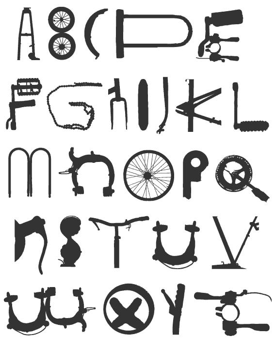 велосипедный шрифт