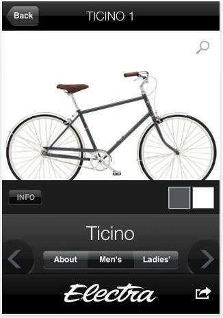 Electra Bicycles велосипедное приложение для iPhone