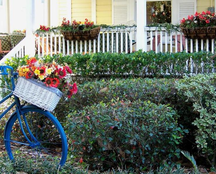 Цветочный велосипед