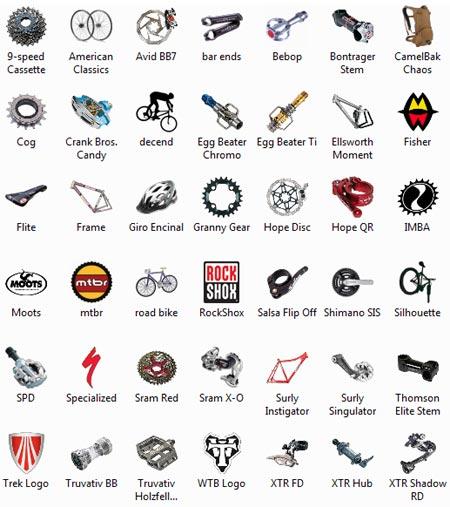 велосипедные иконки