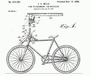 велосипед с зонтиком и вентилятором