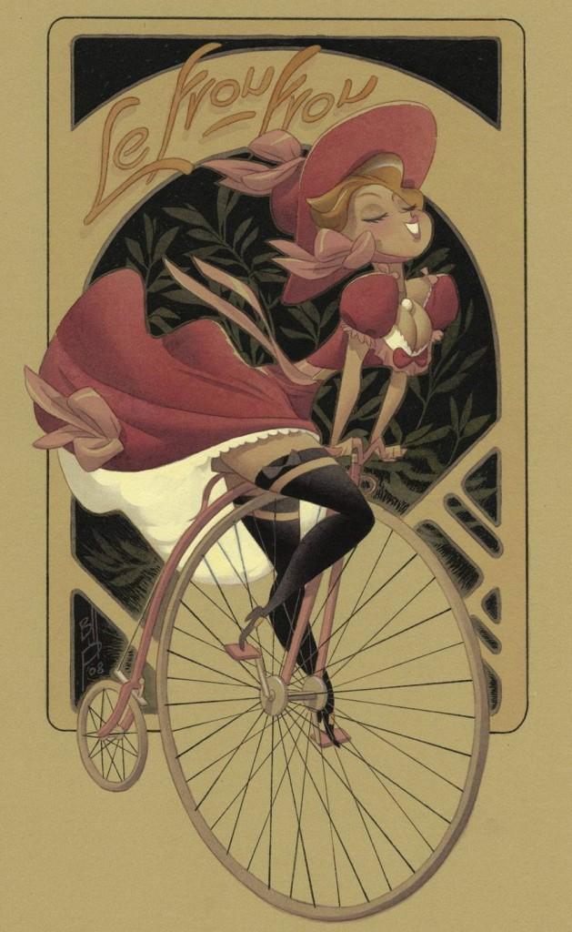 девушка лучше велосипеда