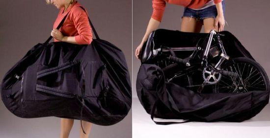 Складной велосипед в мешке