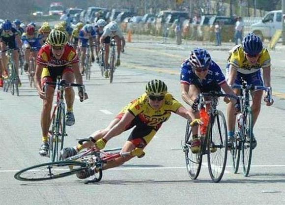 Падения с велосипеда
