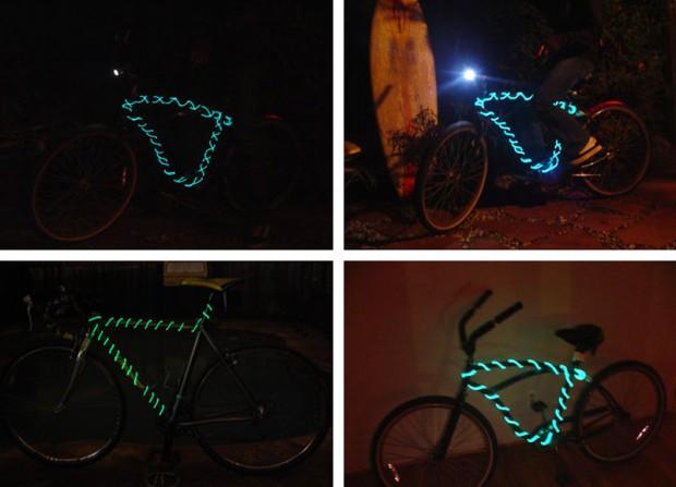 Свечение на велосипеде