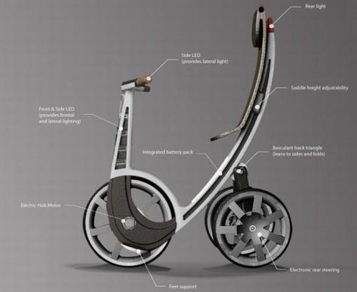 «T-sign» электрический городской велосипед от Алекса Элиаса