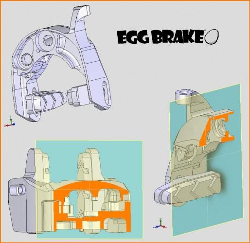 аэродинамические тормоза Egg Brake Calipers Sections
