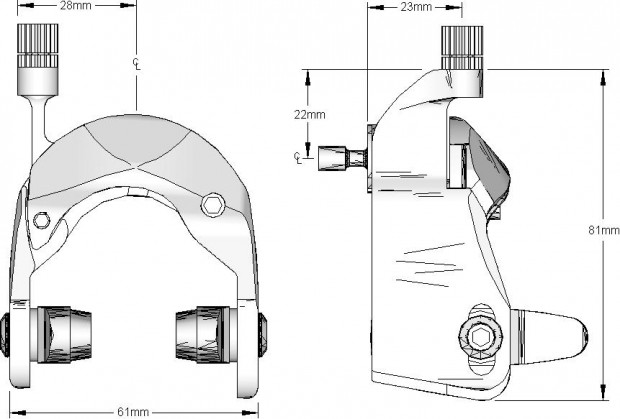аэродинамические тормоза Egg Brake Calipers Spec Sheet