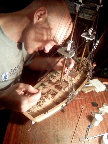 Постройка парусного корабля