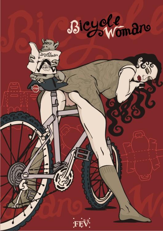 велосипедная девушка