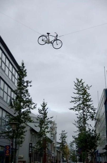 экстремальная велосипедная парковка