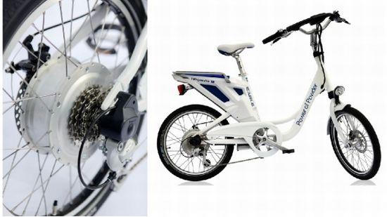 Зеленый E-велосипед от компании Hoganas