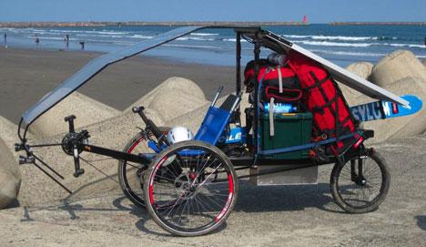Солнечный трицикл от Уоррена МакЛарена из Австралии
