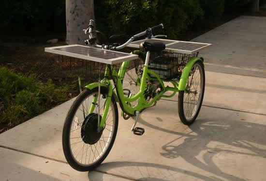 Солнечный велосипед DIY