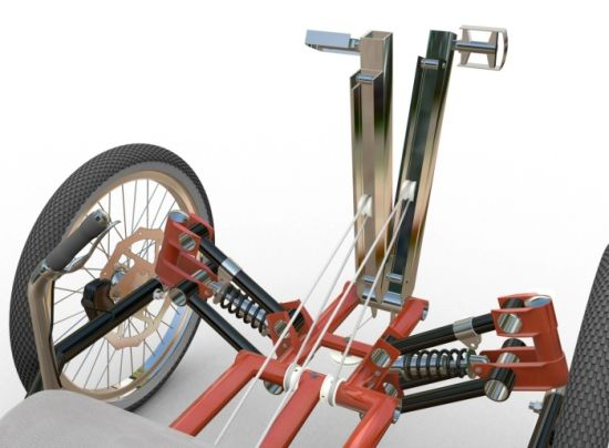 Tringa - складной трехколесный велосипед для города