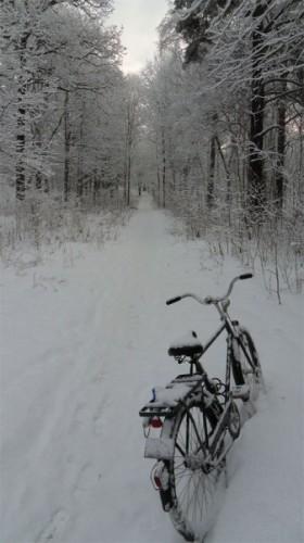 Снежный велосипед Snow Bike